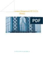 Human Resource Mangement of TATA Moters
