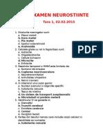 Examen Neurostiinte 02.02.2015