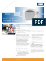 Folleto Impresora Fargo C50 ID SMART TECH http://www.fargomexico.idsmarttech.com/