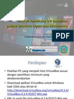 Instalasi Aplikasi VirtualBox Pada Sistem Operasi Windows