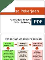 analisa pekerjaan