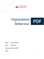 Organisations and Behaviour
