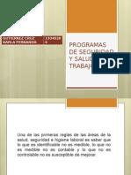 Programas de Seguridad y Salud en El Trabajo