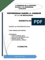 sedimentologia metalurgia undac