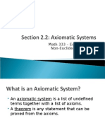 Axiomatic Systems