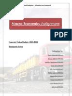 Pre Budget Transportation Analysis
