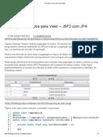 Primefaces _ Dicas de Programação