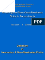 Modelling the Flow of Non-Newtonian Fluids in Porous Media