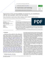 Ts-1 Improvement of the Oral Bioavailability of Coenzyme q10 by Emulsification With Fats and Emulsifiers Used in the Food Industry
