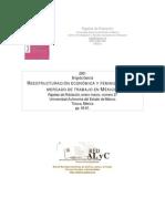 Reestructuracion Economica y Feminizacion Del Mercado de Trabajo en Mex