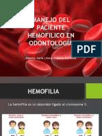 Manejo Del Paciente Hemofilico en Odontología