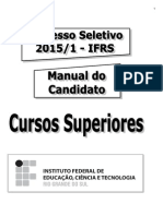 Manual Do Candidato Cursos Superiores IFRS 2015 1