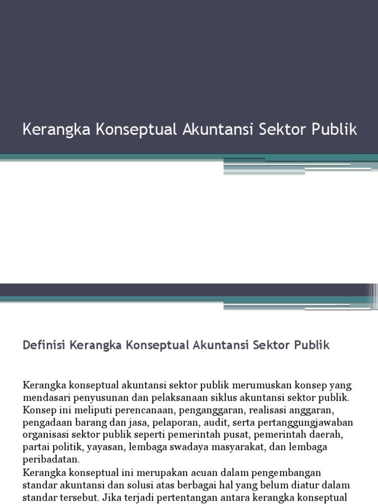 Makalah Kerangka Konseptual Akuntansi Sektor Publik