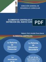 Elementos Centrales en La Definicion Del Nuevo Curriculo