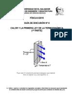 Discusión 6. Calor y Primera Ley de la Termodinámica (1° Parte) (1)