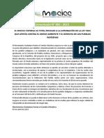 MOCICC comunicado N°003_2015