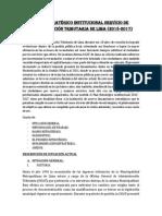 Plan Estratégico - Fuentes de Informacion