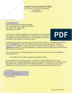 Williams, Arizona - request to join ICE 287(g) program