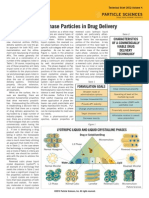 Cubic Phase Particles in Drug Delivery