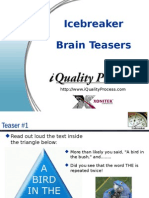 Icebreaker Brainteasers