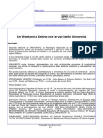 Un Weekend a Urbino con le voci delle Università - viverefano.com del 25 maggio 2015