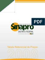 Tabela Sinapro-DF 2008