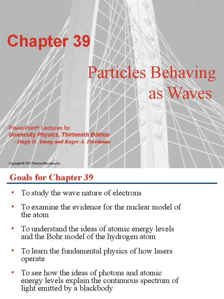 39 Lecture Outline Modern Physics University Physics 13th Edition |  Emission Spectrum | Atoms