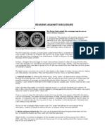 Reasons Against Disclosure