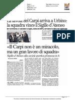 La favola del Carpi arriva a Urbino