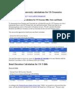 6. Duration, Convexity Calculator for US Treasuries