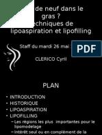Quoi de neuf dans le gras ? Techniques de lipoaspiration et lipofilling