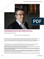 Profession de Foi Christian Paul