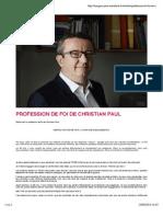 Profession de Foi Christian Paul