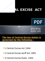 PPT - Central Excise Act