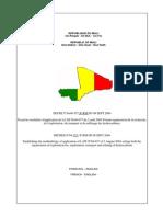 Mali Decret Petrolier 04357 Du 8 Sept 2004 Bilingue
