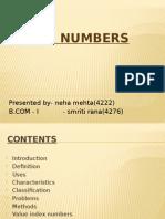INDEX NUMBERS (Statistics Project )