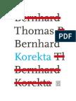 Thomas Bernhard - Korekta