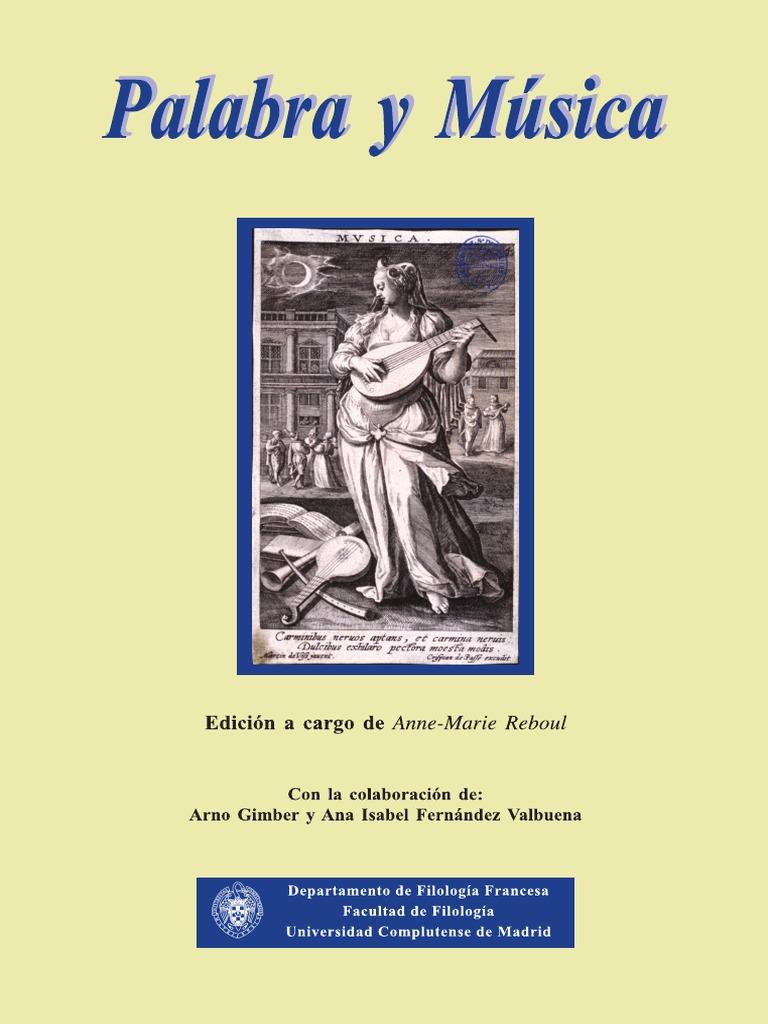 Palabra y msica libro fandeluxe Images
