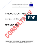 Ghidul Solicitantului Pentru Masura 313 - Varianta Consultativa