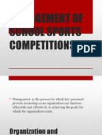 Management of School Sports Competitions