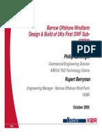 Barrow OWF Design & Build of UKs 1st OWF Substation
