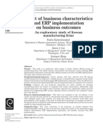 Effect of business characteristics ERP implementation.pdf