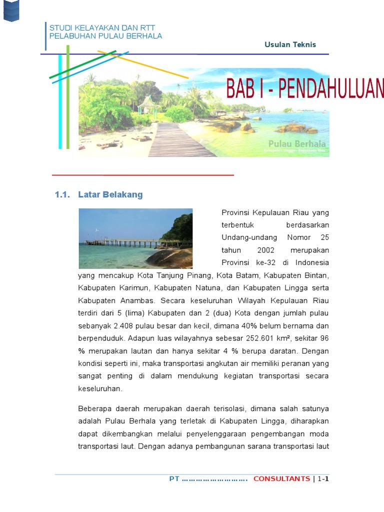 Ustek Fs Rtt Pelabuhan Pulau Berhala Dwr Jambi