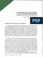 Balance Historiografico Catalanismo