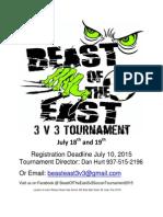 Beast of the East 2015 Brochure