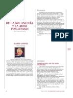 De La Melancolía y La Mors Voluntaria. Ramon Andres