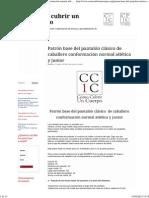 Patrón base del pantalón clásico de caballero conformación normal atlética y junior _ Cómo cubrir un cuerpo.pdf