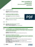 Programa de la XXXI Reunión del Círculo de Economía en Sitges