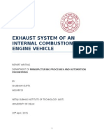 Automobile exhaust system,report writing(tc),nsit