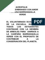 CAMPAÑA ECOLOGICA